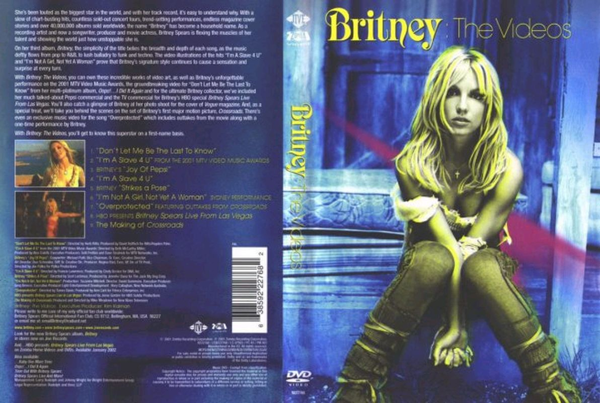 Jaquette DVD Britney The videos