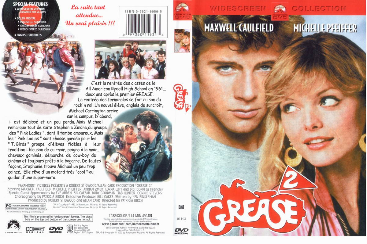 Jaquette DVD Grease 2