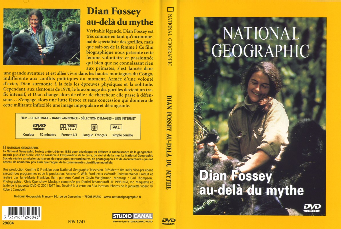 Jaquette DVD National geographic: dian fossey