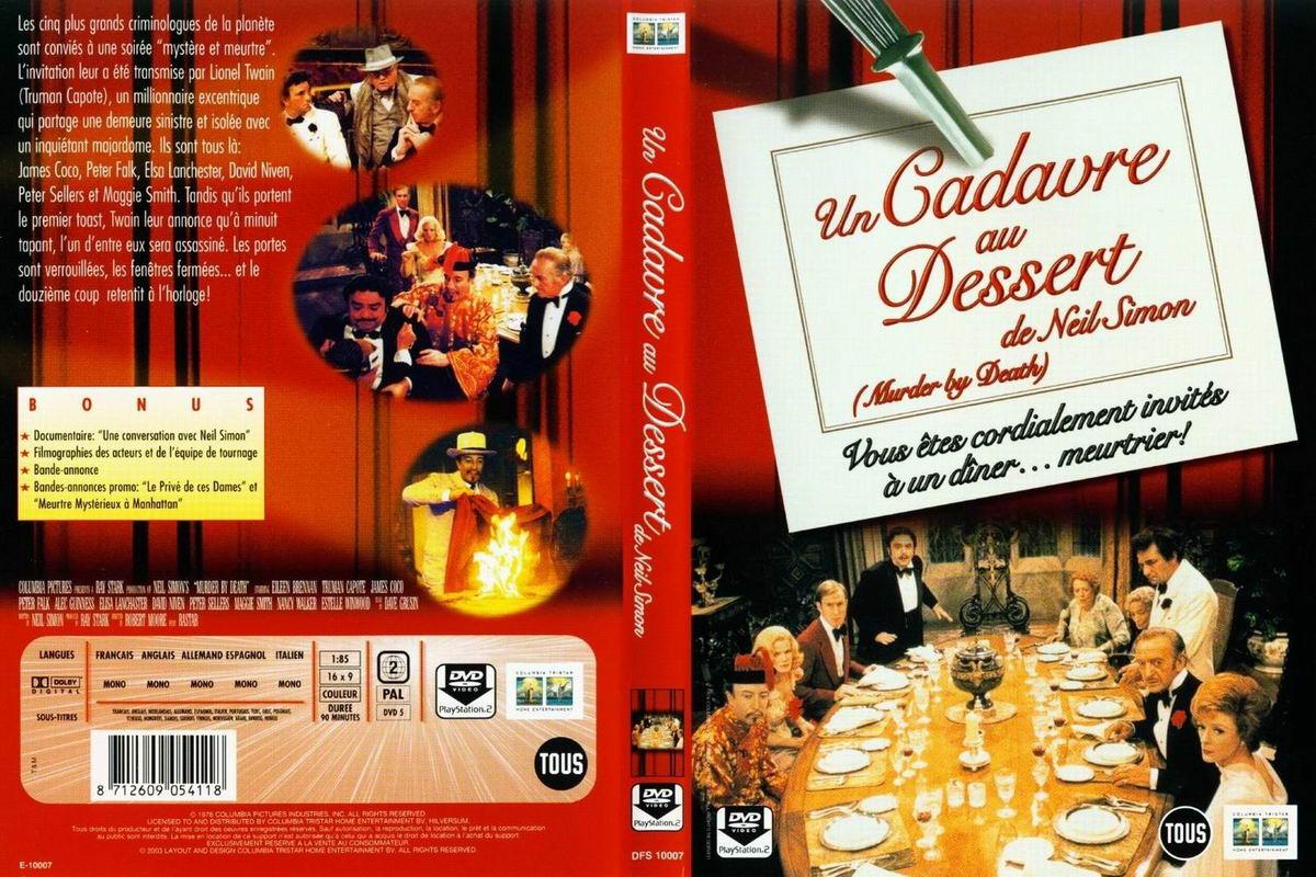 jaquette dvd de un cadavre au dessert cin 233 ma